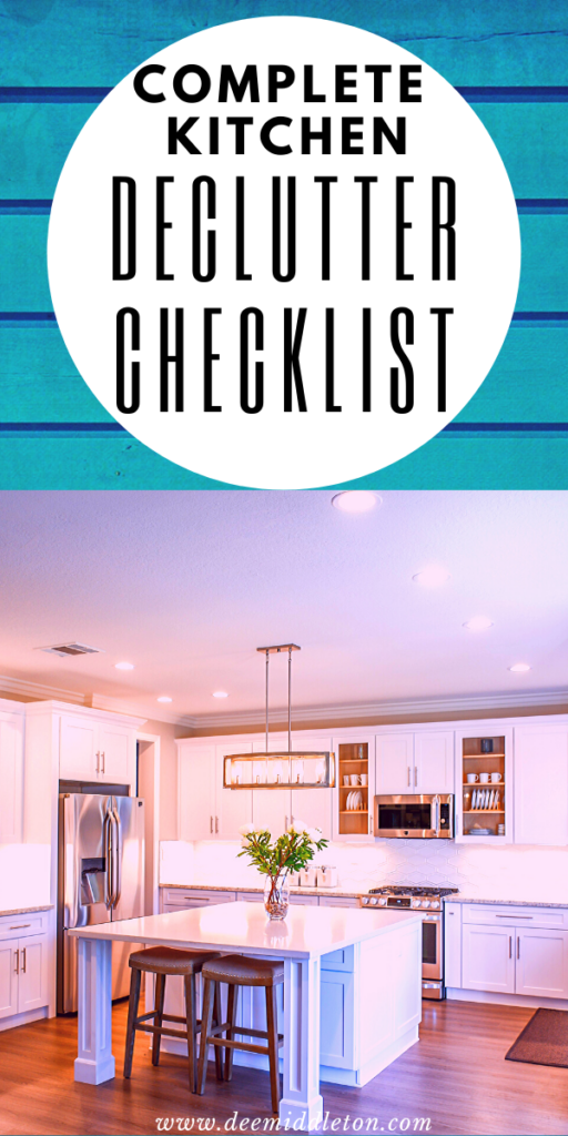 FREE KITCHEN DECLUTTER CHECKLIST