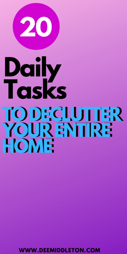 What is the fastest way to clean a cluttered house?