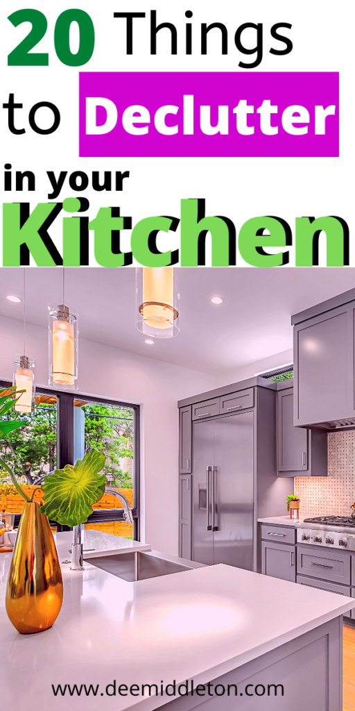 kitchen declutter checklist