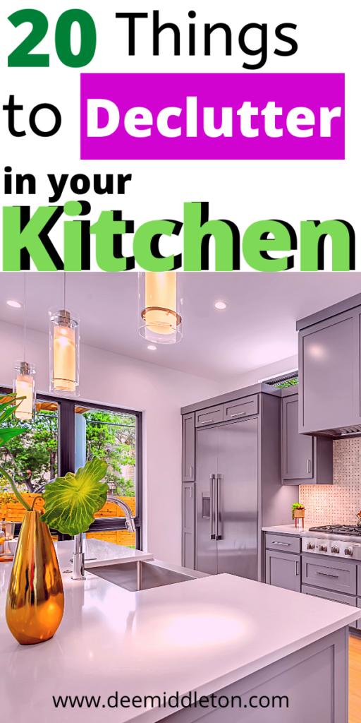 kitchen declutter checklist