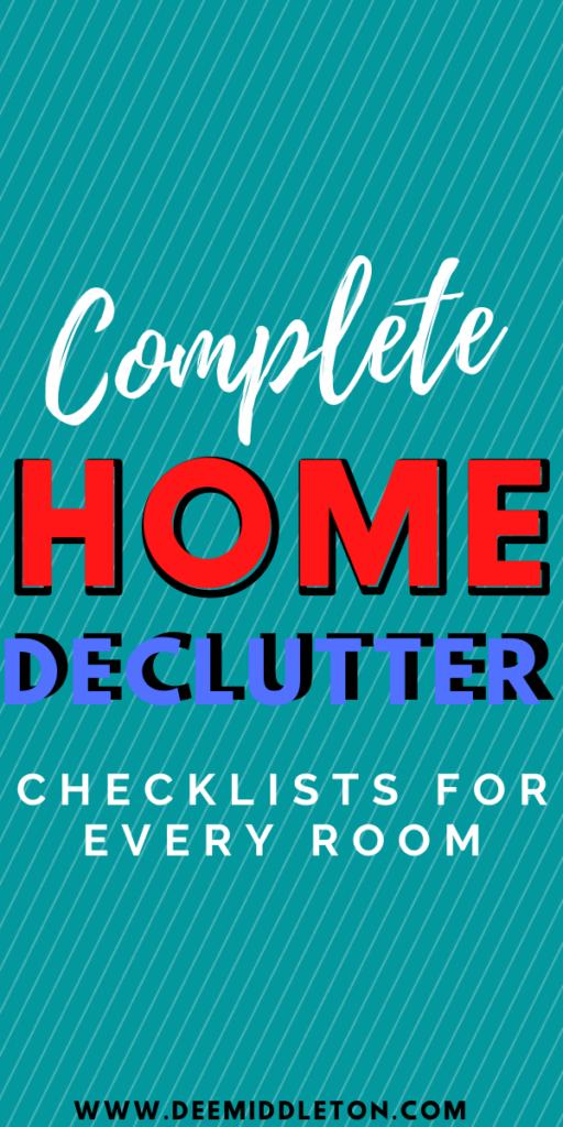Declutter Checklists