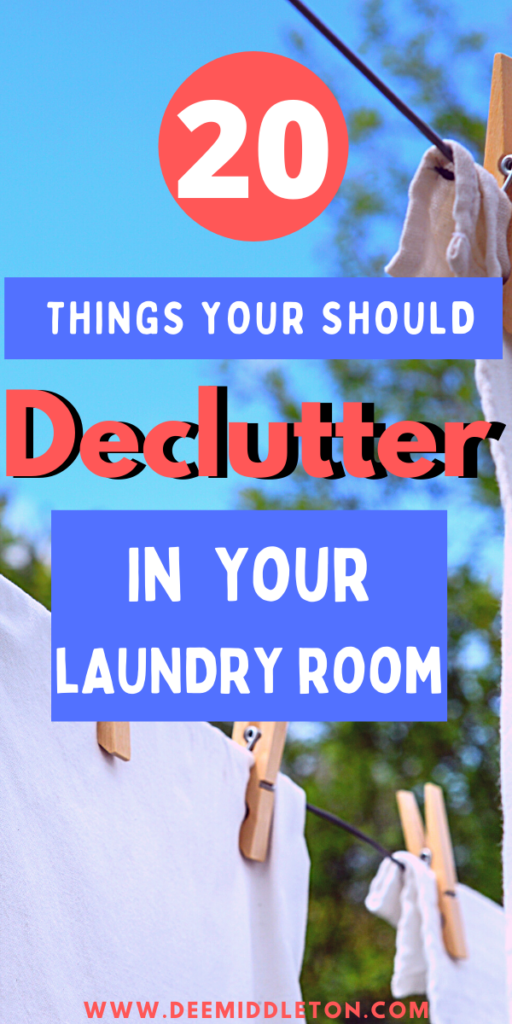 Laundry Room Declutter Series