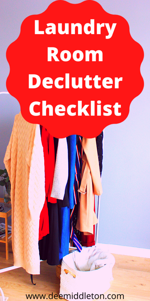 LAUNDRY ROOM AND PATIO DECLUTTER CHECKLIST