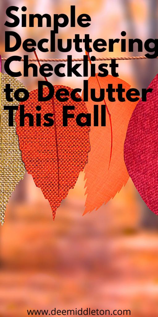 Simple Decluttering Checklist