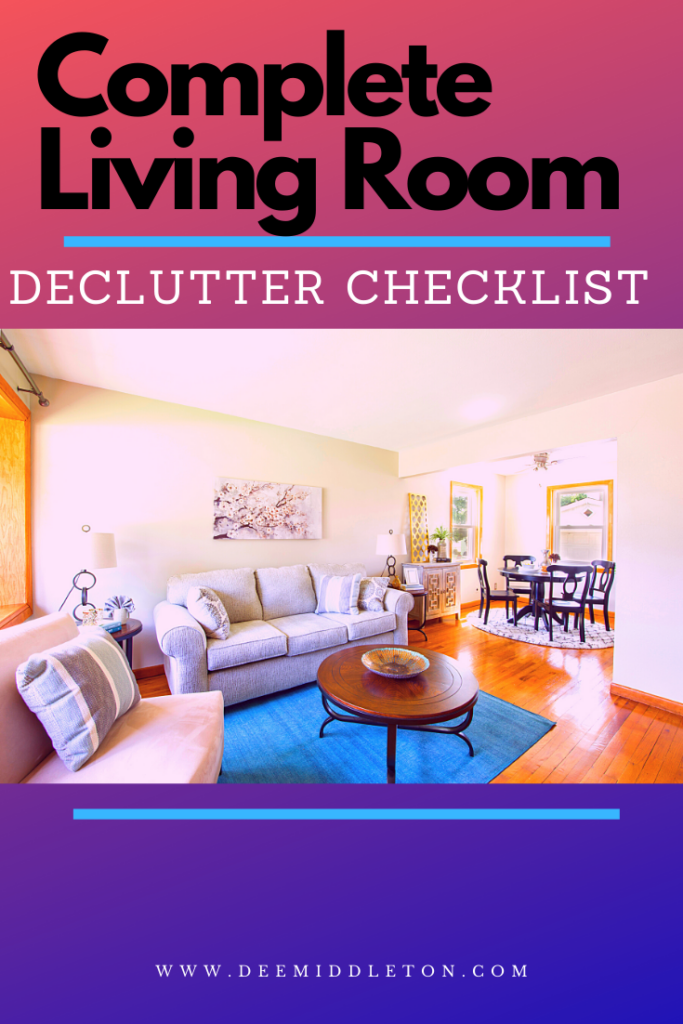living room declutter checklist