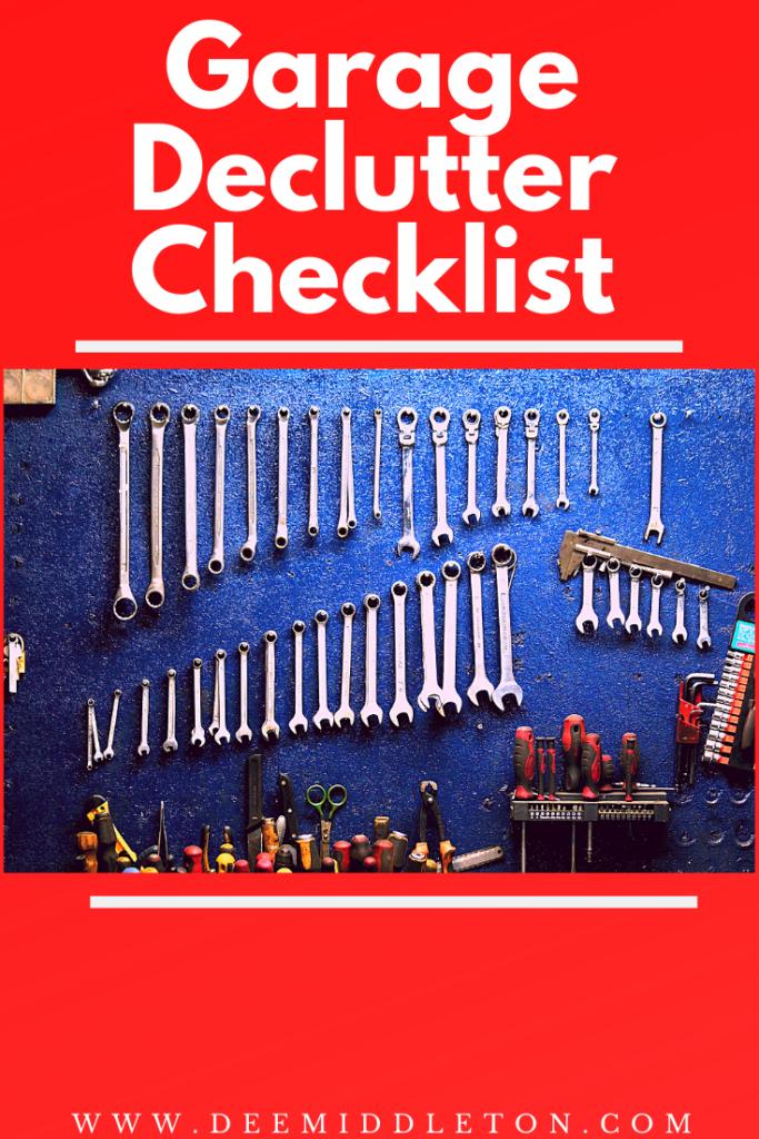 garage declutter checklist