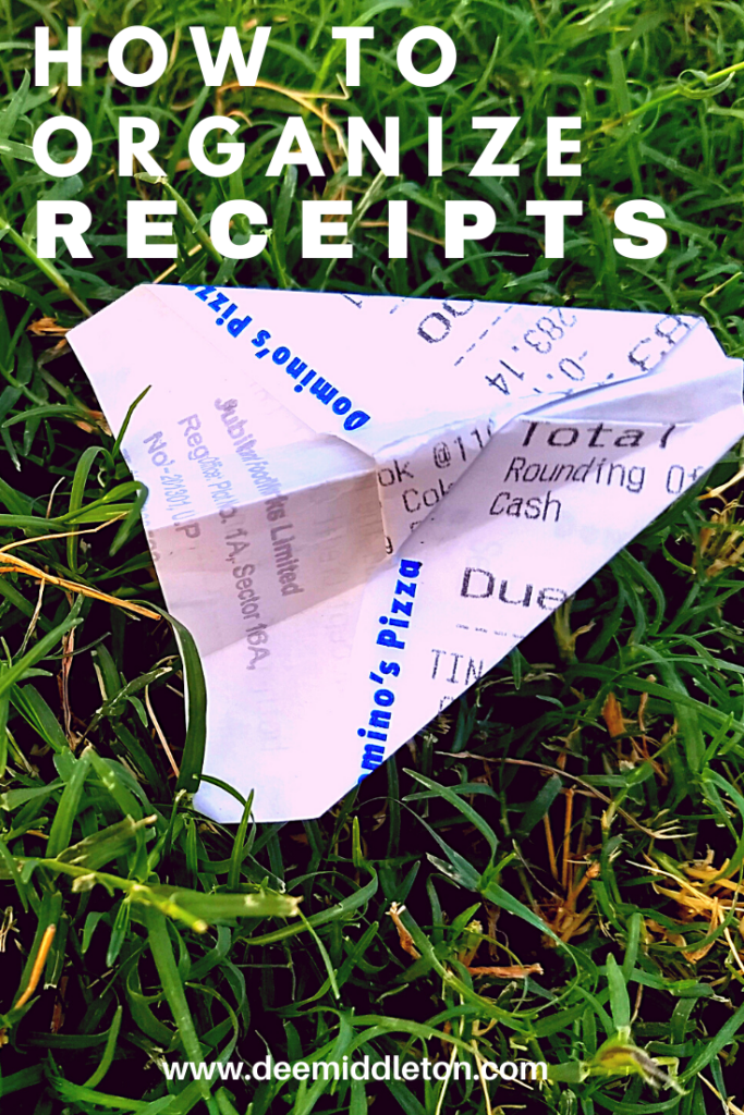 HOW TO ORGANIZE RECEIPTS