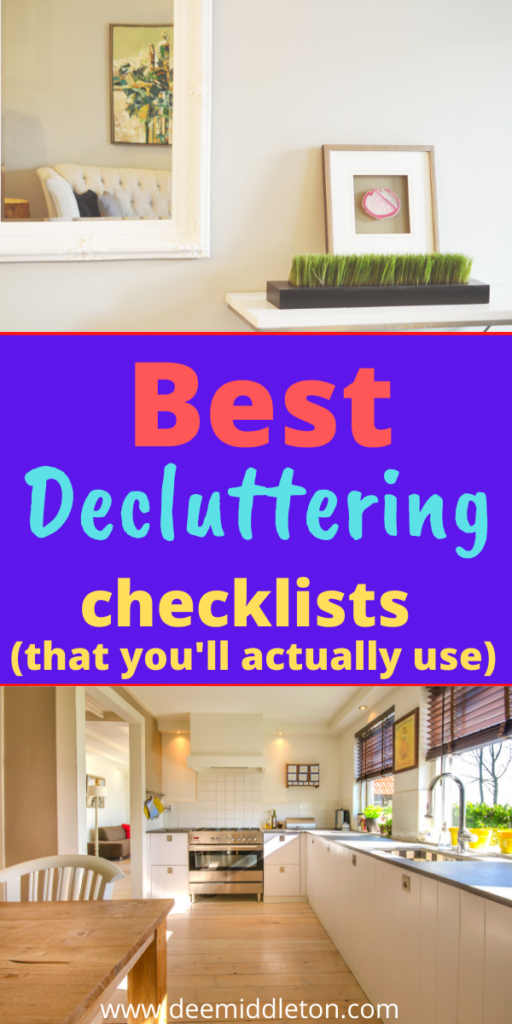 Best Decluttering Checklists (that you'll actually use)