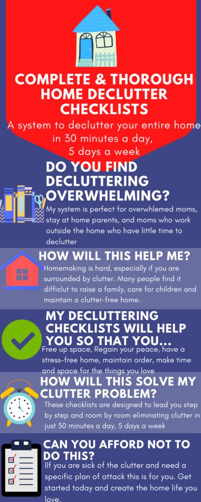 decluttering plan, declutter website