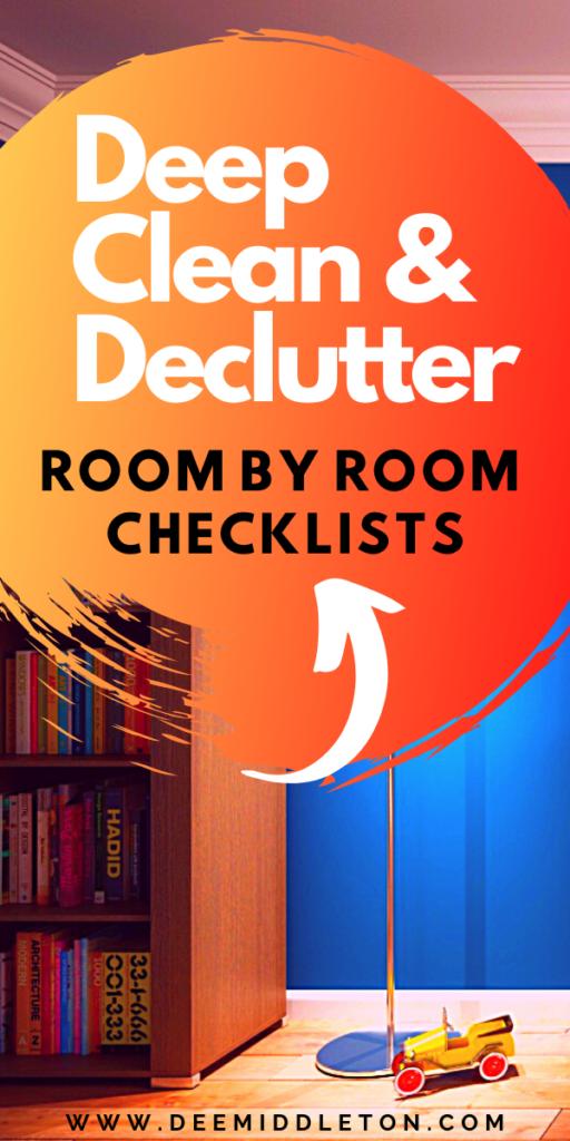get rid of clutter checklist
