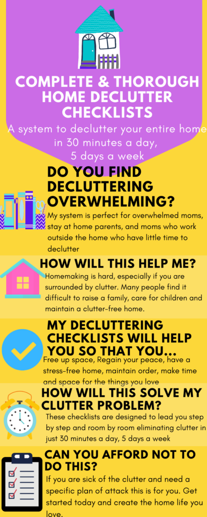 Decluttering Your Home Checklists