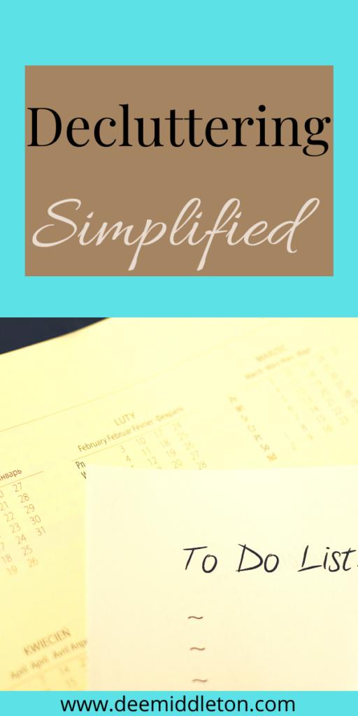 decluttering simplified