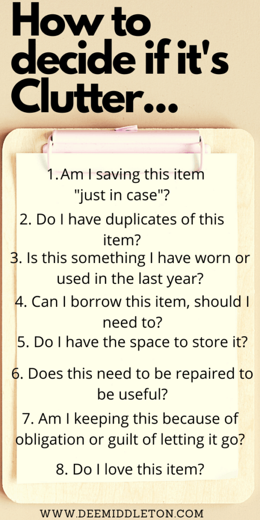What Do You Throw Away When Decluttering?  How Do I Let Go of my Belongings? How Do I Start Decluttering?