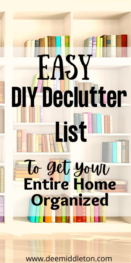 diy declutter list