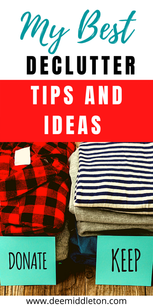 declutter tips and ideas
