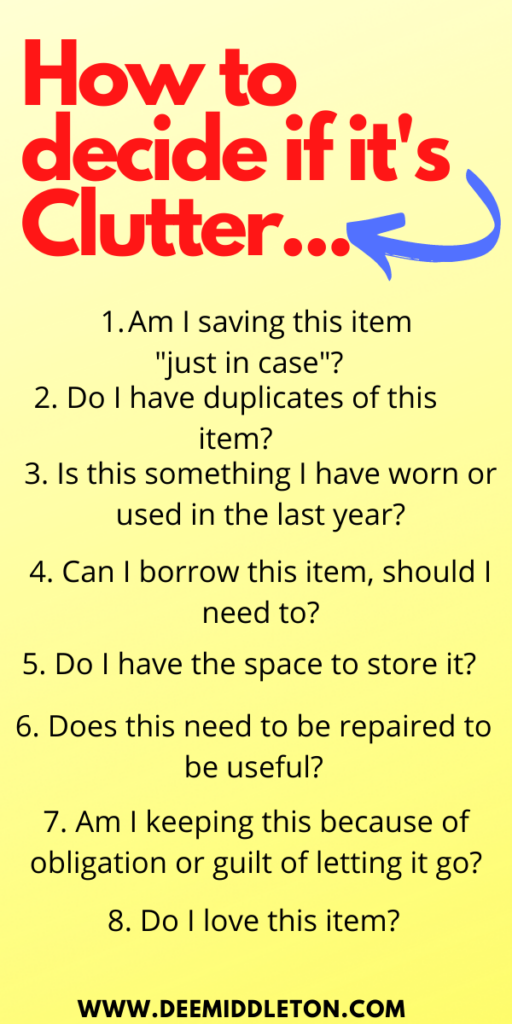 Clear the Clutter Checklist